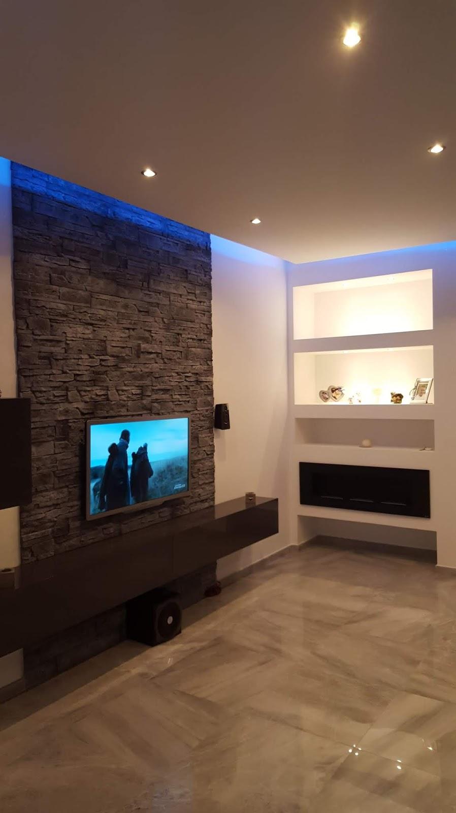 Mensole In Cartongesso Ad Angolo una casa a colori: luci led e calde atmosfere - corsico