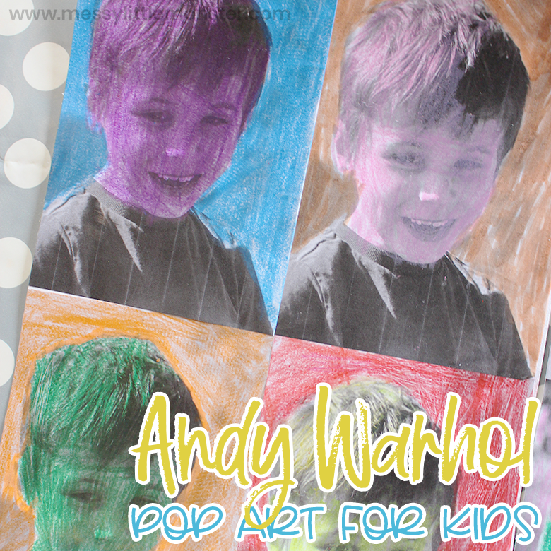 Famous artists for kids - Andy Warhol pop art