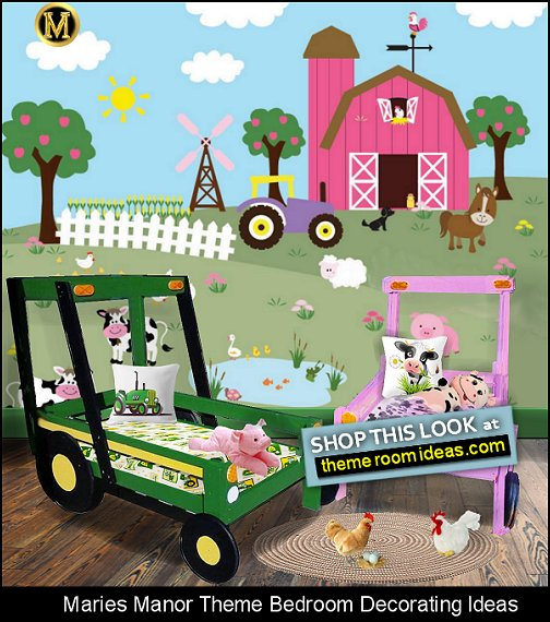 tractor bed farm bedroom furniture farmyard room decorating ideas farm animals wall decorations