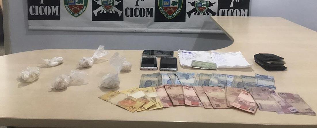 Policiais militares da 7ª Cicom detêm homens com drogas e dinheiro na zona sul