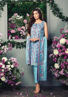 Alkaram latest lawn dresses stitching designs 2017