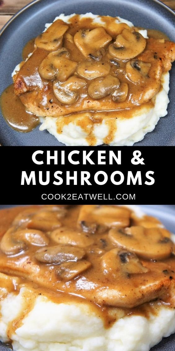 CHICKEN AND MUSHROOMS #recipes #dinnerrecipes #dishesrecipes #dinnerdishes #dinnerdishesrecipes #food #foodporn #healthy #yummy #instafood #foodie #delicious #dinner #breakfast #dessert #lunch #vegan #cake #eatclean #homemade #diet #healthyfood #cleaneating #foodstagram