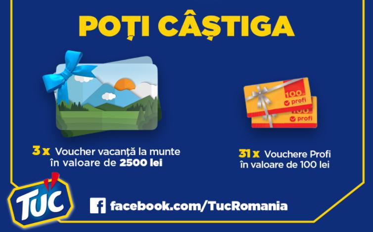 Concurs TUC - Castiga 3 vacante la munte sau 31 vouchere de cumparaturi Profi - concursuri - online