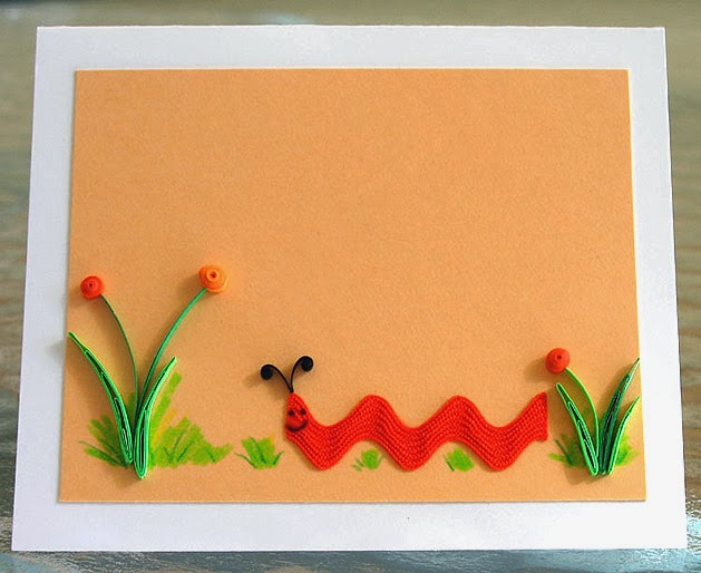 Rick Rack Caterpillar Card