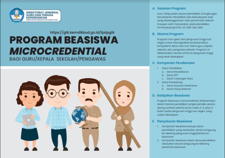 Beasiswa Microcredential untuk Guru, Kepsek, dan Pengawas dari Kemendikbudristek Tahun 2021