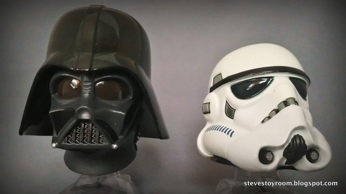 StarWars Helmets Figure DarthVader StormTrooper with Gift Pack Titanium Series
