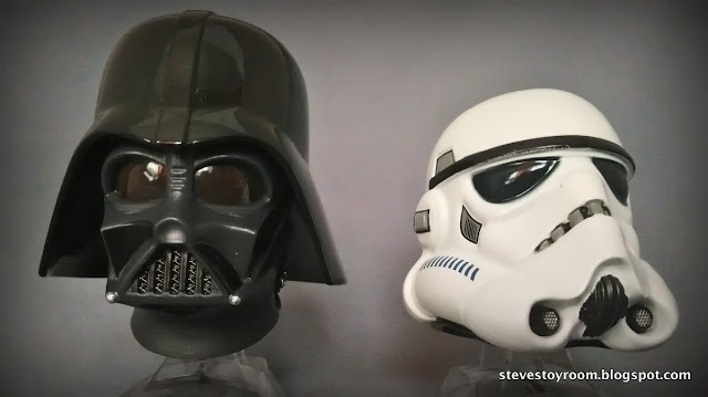Darth Vader & Stormtrooper Mini Helmet Titanium Series