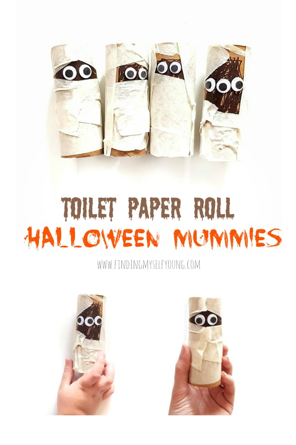 halloween toilet paper mummies