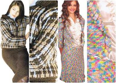 2 Chaquetas Tallieur ganchillo y tricot