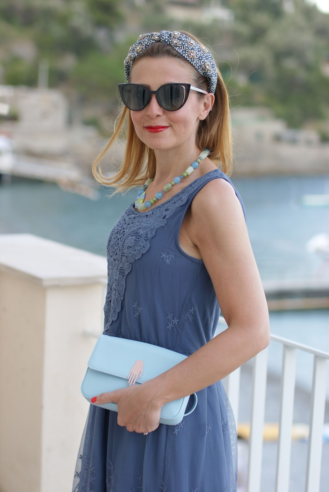 Mismash Bunaka dress and Fendi cat eye sunglasses on Fashion and Cookies fashion blog, fashion blogger style
