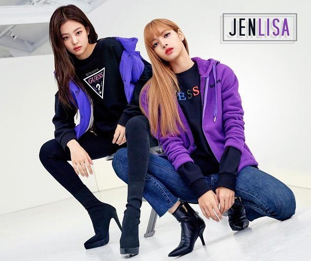 La Lisa Hd Images Of Guess Blackpink 2018 Winter Collection