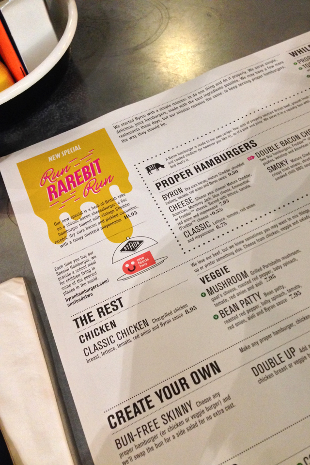 Byron Hamburgers Newcastle Food Hello Freckles Review Menu