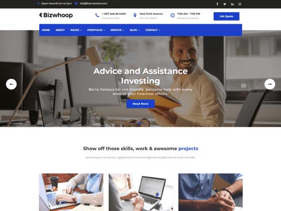 Bizwhoop Template Wordpress