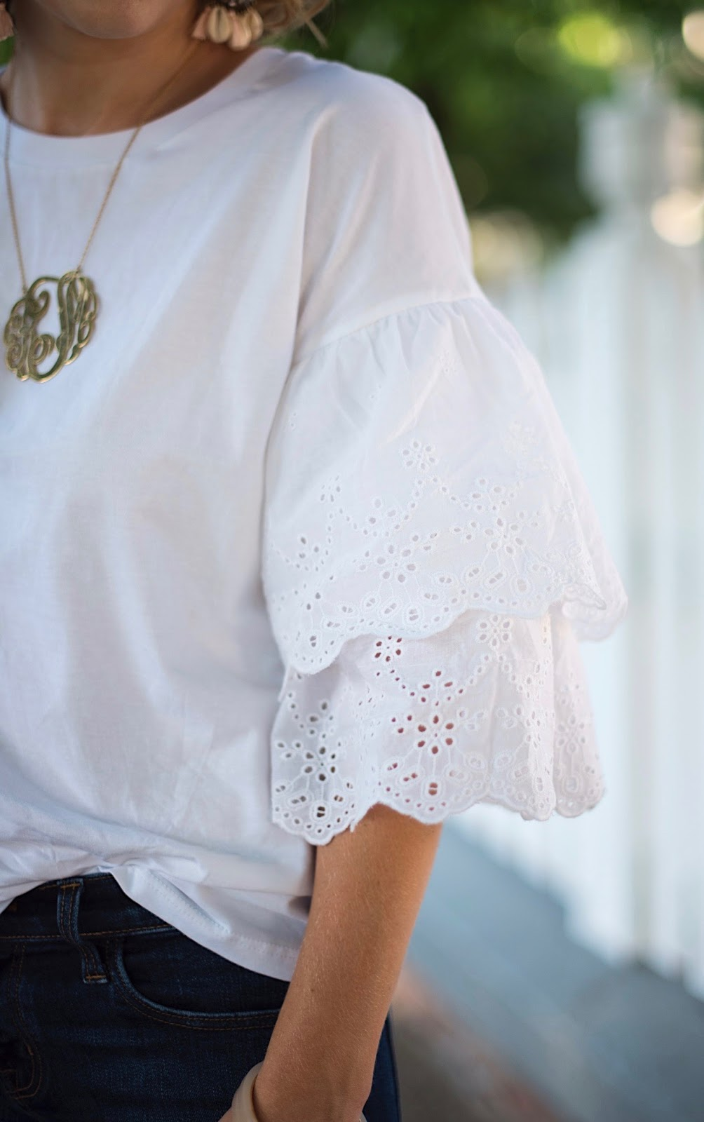 Ruffle Sleeve Tee - Click through to see more on Something Delightful.