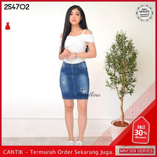 MNF359J145 Jeans 254702 Wanita Denim Jeans Rok terbaru 2019 BMGShop