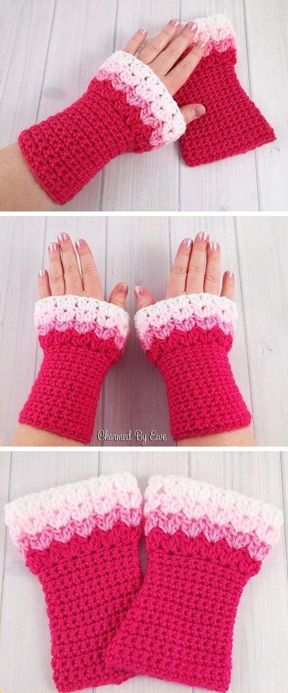 Easy Crochet Wrist Warmer Free Pattern