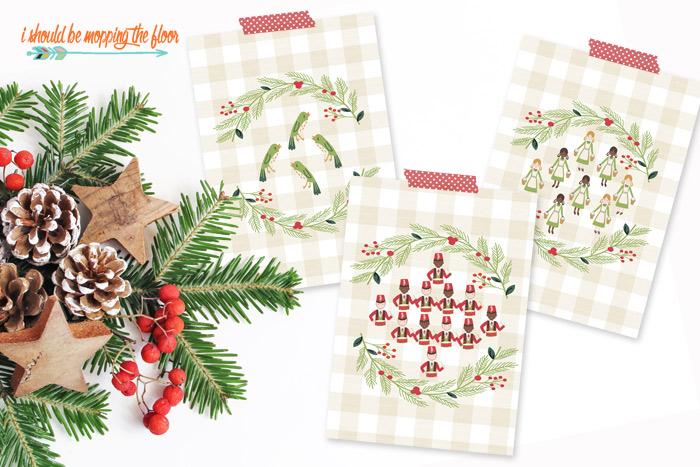 Free 12 Days of Christmas Printable Set