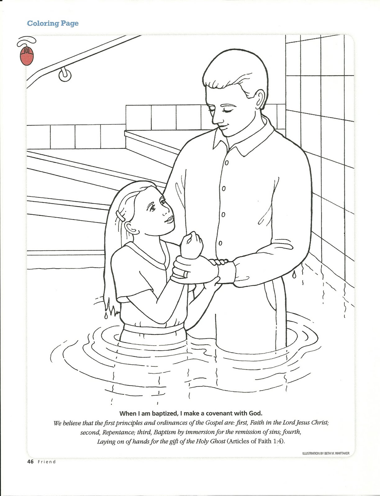 baptism coloring pages - photo#8