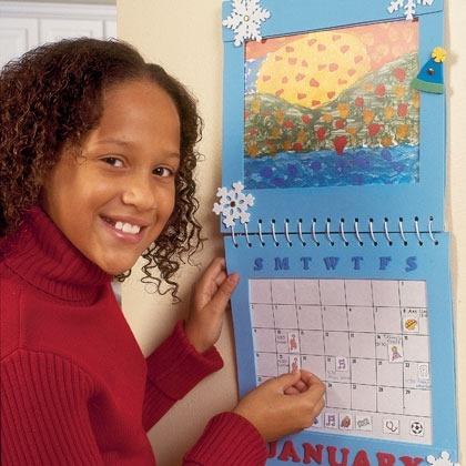 Homemade Family Calendar