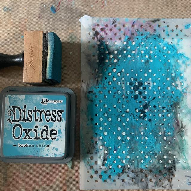 Blueprint Sketch Tim Holtz Distress Oxide Through Stencil