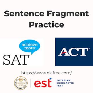 Sentence Fragment Practice