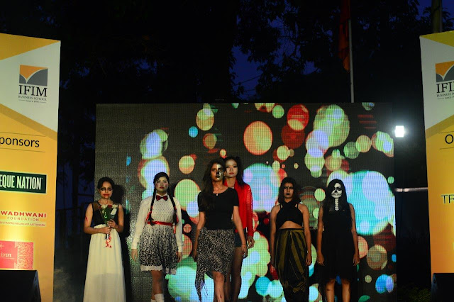 Ramp walk by students at Naman 2017
