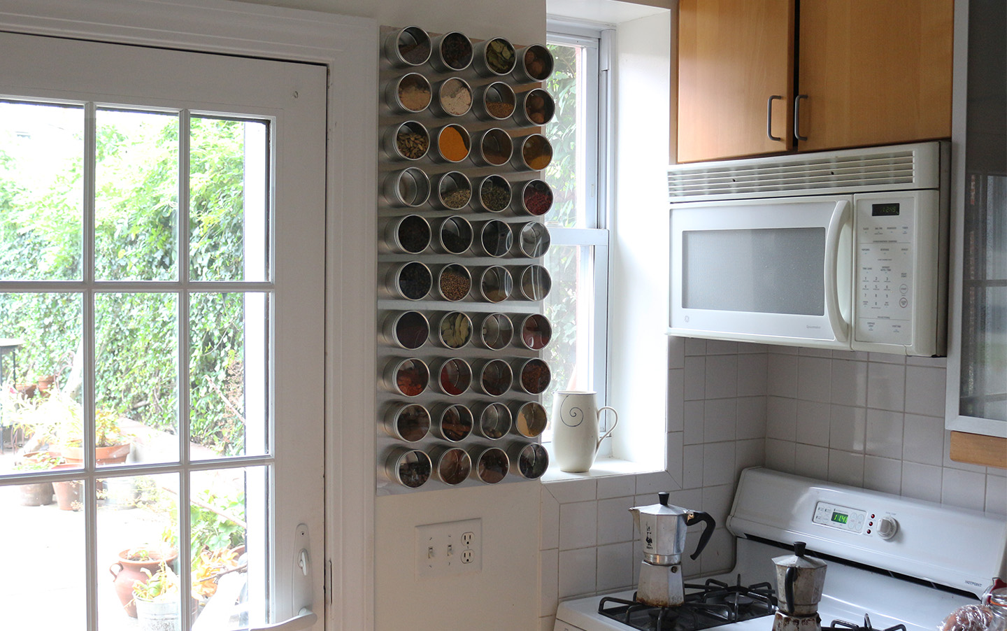 66 Square Feet (Plus): How to make a magnetic spice rack