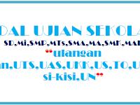 Soal dan Jawaban UTS/PTS SMA/MA Kelas XII Ganjil Tahun 2018/2019