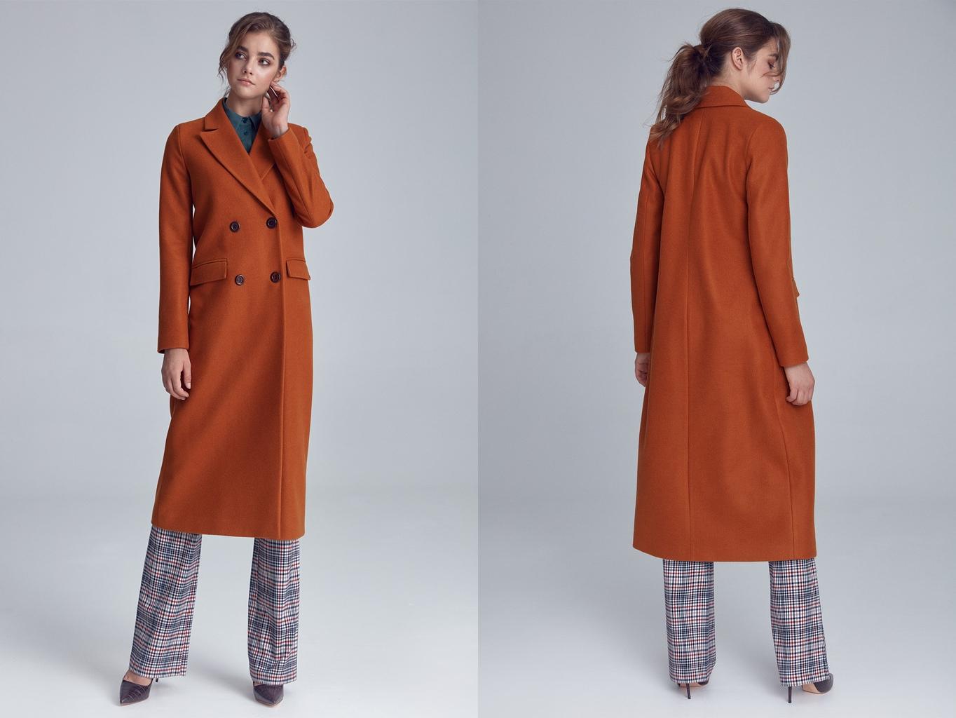 Klasyczny długi płaszcz Nife Soft Office