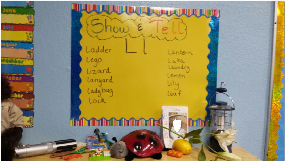 Sea Bear's Kindergarten: Phonics Show and Tell: Great Connection idea!