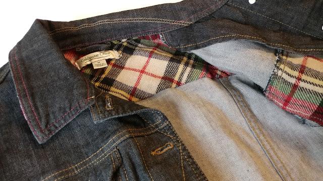 Upcycled denim jacket from Savers