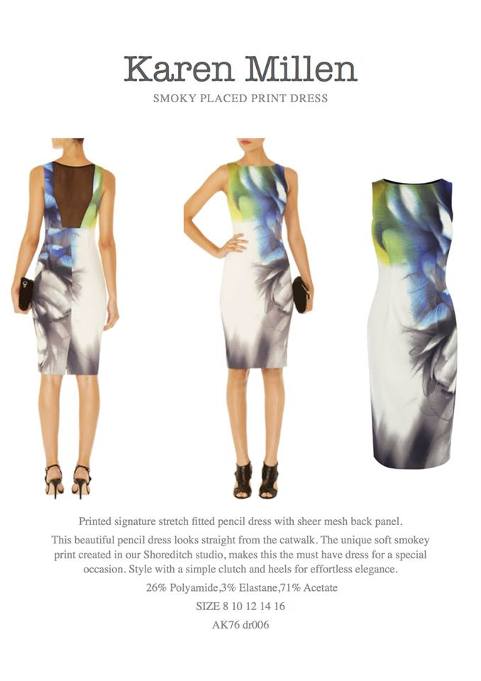 8ca258df727 Karen Millen Smoky Placed Print Dress | SHOPAHOLIZ