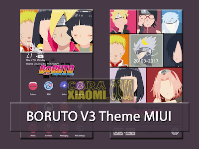 Download Tema Boruto V3 Mtz For Xiaomi MIUI Update versi Terbaru