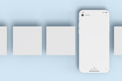 iPhone with extra Screens Mockup