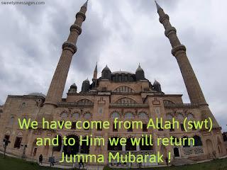 ststus jumma mubarak