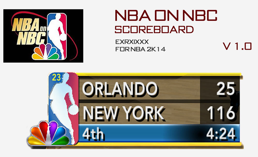 NBA 2K14 NBA on NBC Scoreboard Mod