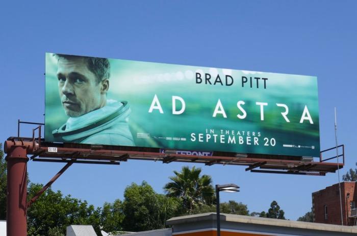 Brad Pitt Ad Astra film billboard