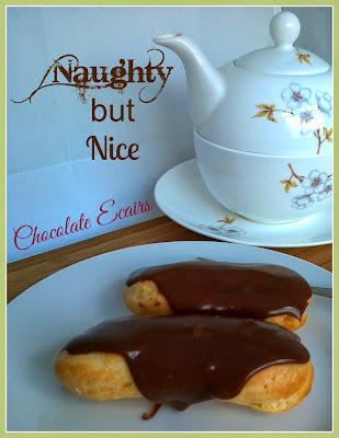 Chocolate Eclairs with Chantilly Cream & Lemon