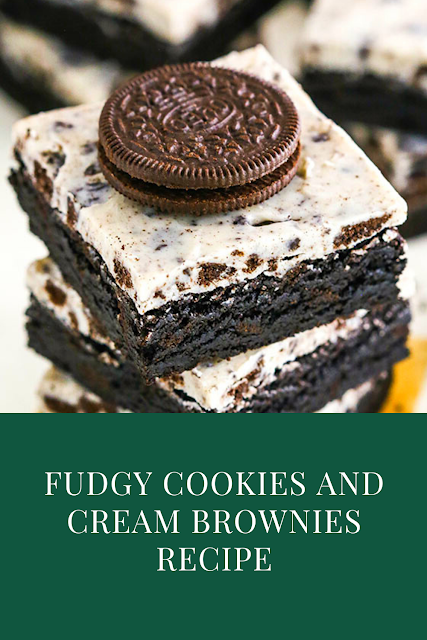 Fudgy Cookies and Cream Brownies Recipe