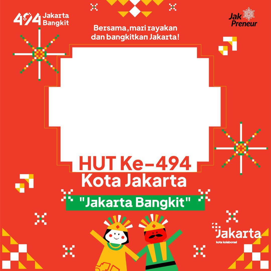 Frame atau Bingkai Foto Twibbon Dirgahayu Kota Jakarta 2021