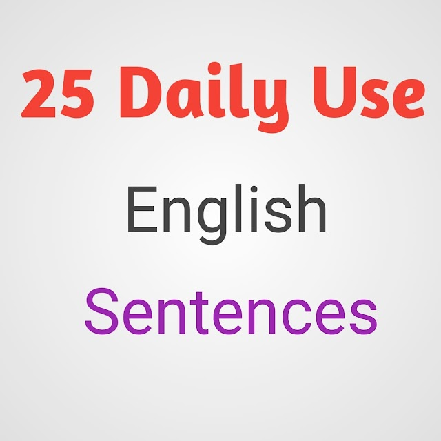 25 Daily Use English Sentences for Casual Conversations