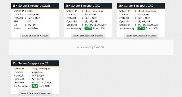 4 Cara Membuat Akun SSH Premium Gratis - Pilih Server