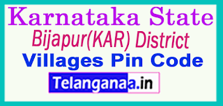 Bijapur(KAR) District Pin Codes in Karnataka State