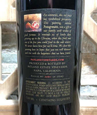 2018 Patland Vineyards Barrel Reserve Cab