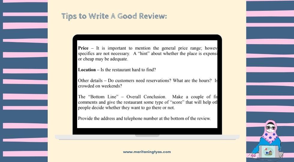 tips menulis review