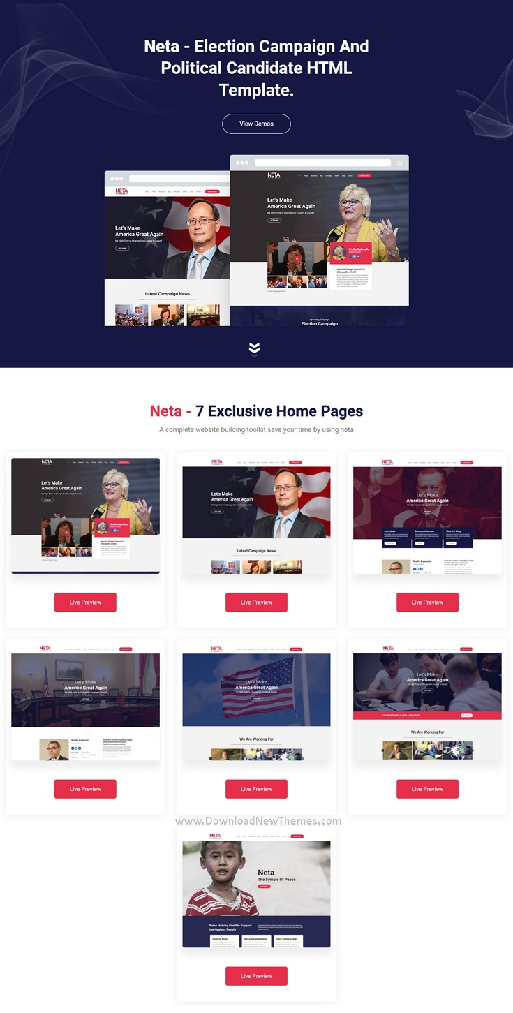 Election Campaign And Political Candidate HTML Template