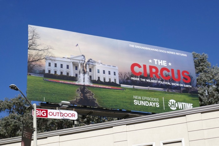 Circus Inside Wildest Political Show billboard