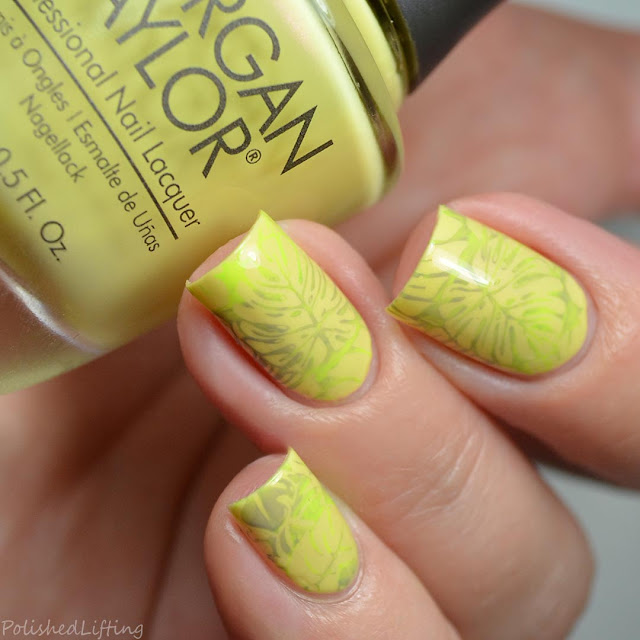 monstera nail art