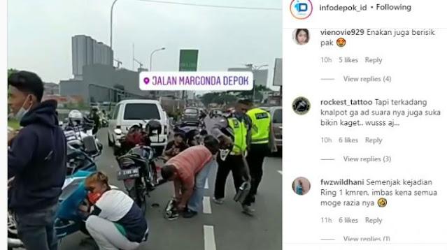 Razia Knalpot Bising di Depok, Warganet: Kalau Motor Ducati Gimana Tuh?