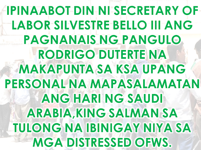 Philippine delegation includes undersecretaries Vilma Cabrera(DSWD),Danilo Lagunsad III (DOE),Jesus Yabes (DFA),Congressman Aniceto Bertiz,Dr. Romeo Bituin (DOH),Admin Hans Cacdac (POEA),Francisco Calatrava(PAO) and Labatt Resty S.M. dela Fuente.